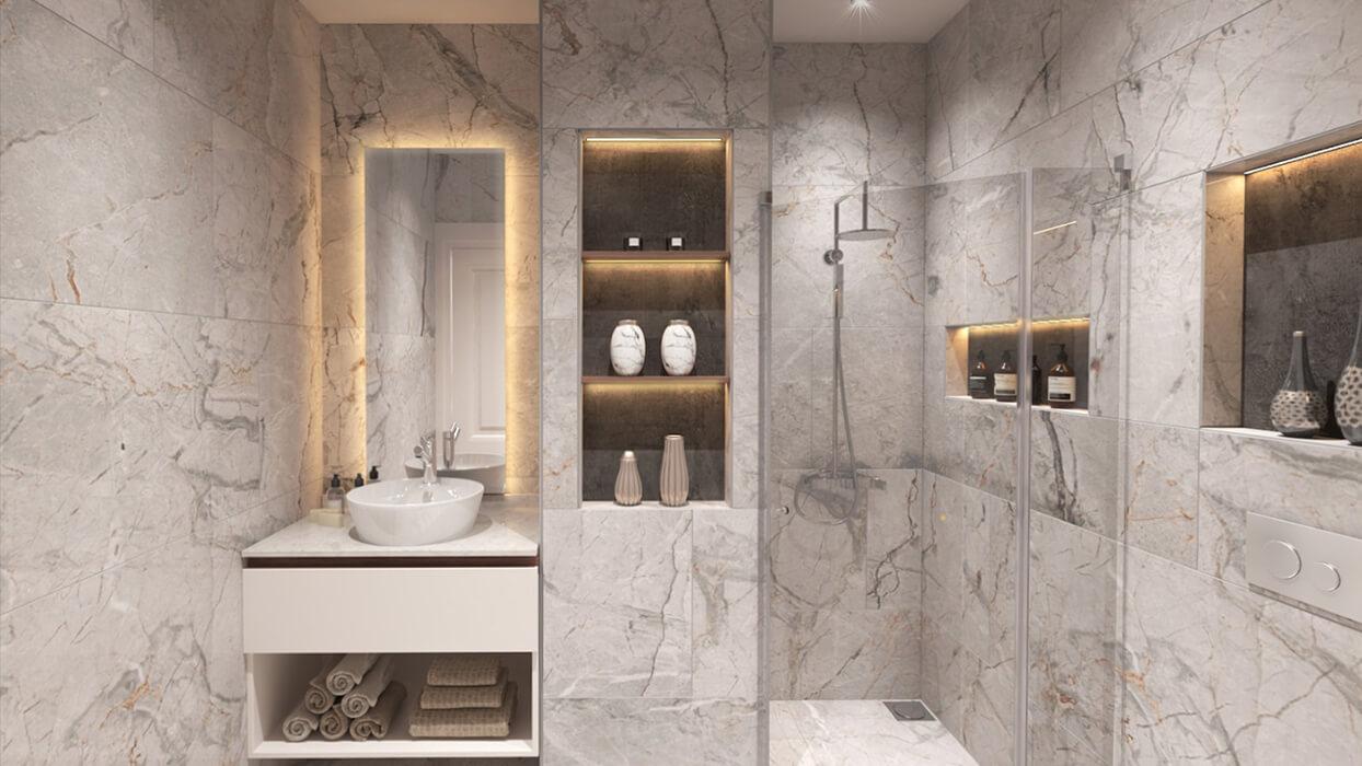 Kuzey Apartmanı - Zeytinburnu - Banyo