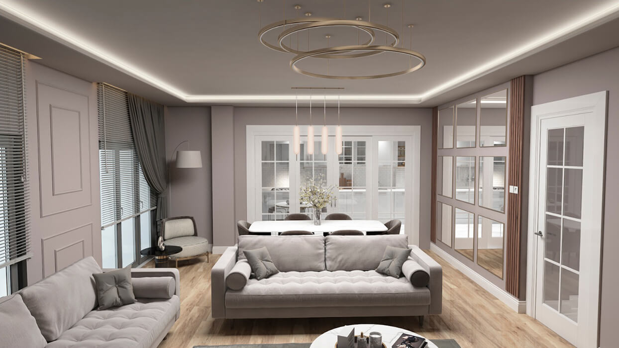 Kuzey Apartmanı - Zeytinburnu - Salon