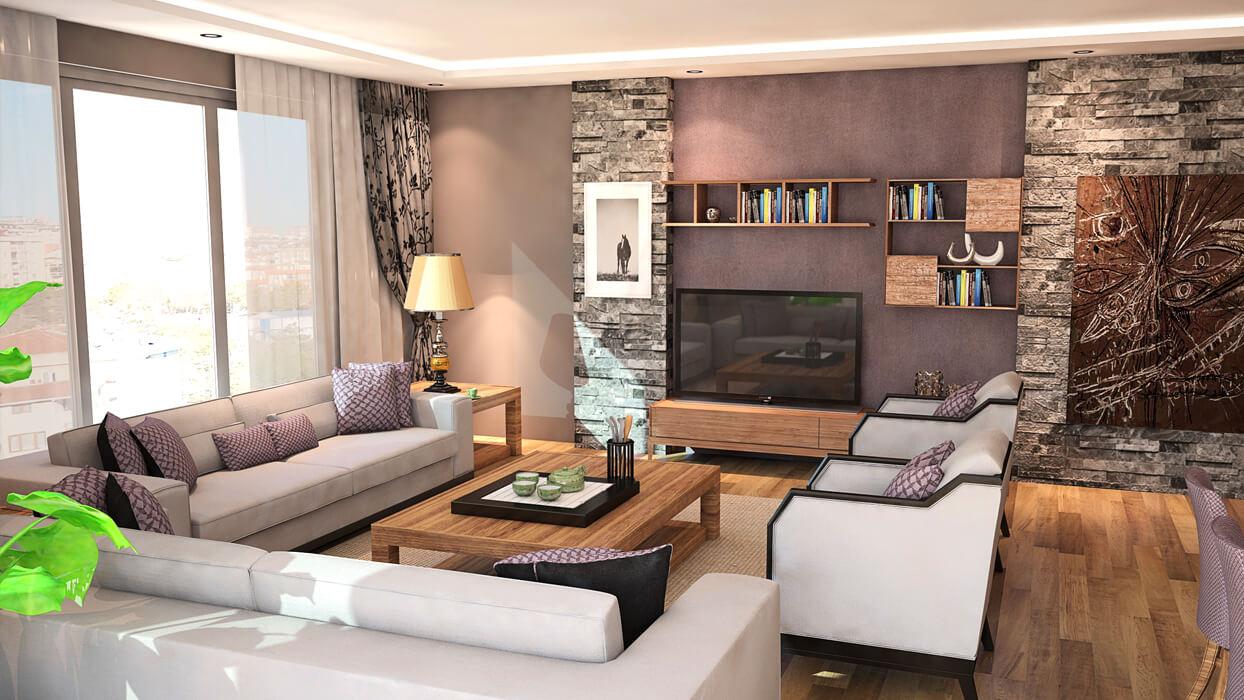 Mutlu Apartmanı - Yeşilköy - Salon
